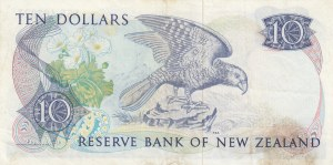 New Zealand, 10 Dollars, 1981, XF, p172a