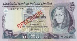 Northern Ireland, 5 Pounds, 1977, UNC, p248, SPECIMEN