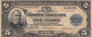 Philippines, 5 Pesos 1921, XF (-), p53