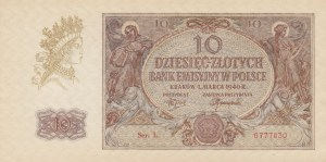 Poland, 10 Zlotych, 1940, UNC, p94