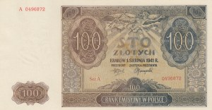 Poland, 100 Zlotych, 1941, UNC, p103