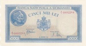 Romania, 5000 Lei, 1943, UNC, p55