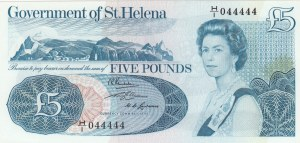 Saint Helena, 5 Pounds, 1976, UNC, p7a