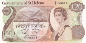 Saint Helena, 20 Pounds, 1986, UNC, p10