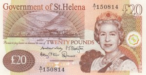 Saint Helena, 20 Pounds, 2012, UNC, p12b