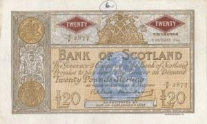 Scotland, 20 Pounds, 1963, XF (-), p94f