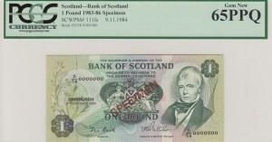 Scotland, 1 pound, 1984, p111fs, SPECİMEN