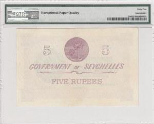 Seychelles, 5 Rupees, 1954, UNC, p11a