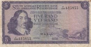 South Africa Republic, 5 Rand, 1967-1974, VF, p112b