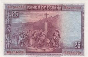 Spain, 25 Pesetas, 1928, UNC, p74b