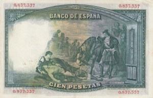 Spain, 100 Pesetas, 1931, AUNC (-), p83