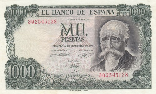Spain, 1000 Pesetas, 1971, UNC, p154
