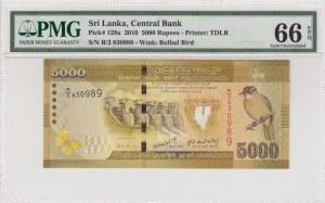 Sri Lanka, 5000 rupees, 2010, UNC, p128a