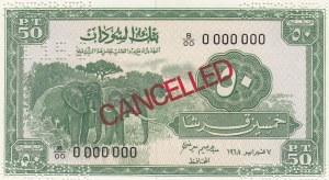 Sudan, 50 Piastres, 1964-1967, UNC, p7, SPECIMEN