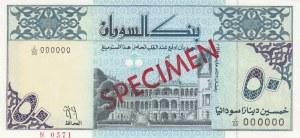 Sudan, 50 Sudanese Dinars, 1992, UNC, p54s, SPECIMEN