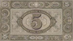 Switzerland, 5 Franken, 1942, XF, p11j