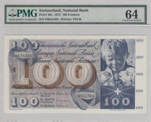 Swetzerland, 100 Franken, 1973, UNC, p49o