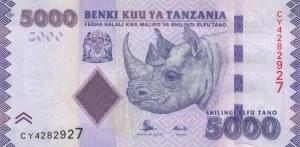 Tanzania, 5000 Shillings, 2015, UNC, p43b