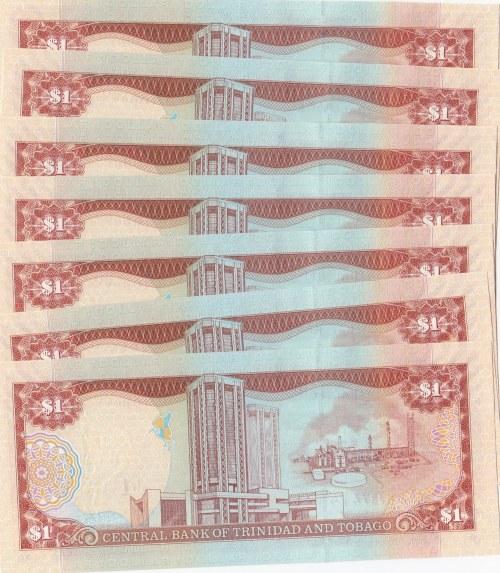 Trinidad and Tobago, 1 Dollar, 2006, UNC, p44, (Total 7 banknotes)