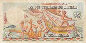 Tunisia, 1/2 Dinar, 1965, UNC, p62a