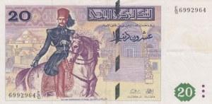 Tunisia, 20 Dinars, 1992, XF (-), p88