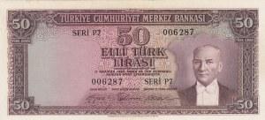 Turkey, 50 Lira, 1956, XF / AUNC, p164,