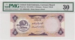 United Arab Emirates, 5 Dirhams,1973, VF, p2a
