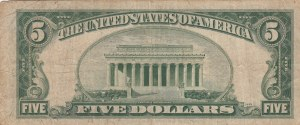 Unıted States Of America, 5 Dollars, 1928, VF, p379c