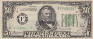 United States Of America, 50 Dollars, 1934, XF (-), P432l