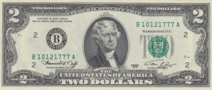 Unıted States Of America, 2 Dollars, 1976, UNC, p461