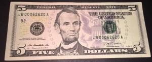 United States Of America, 5 Dollars, 2009, XF, p531