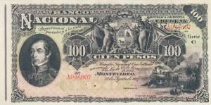 Uruguay, 100 Pesos, 1887, UNC, pA96