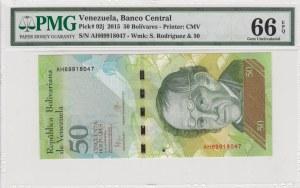 Venezuela, 50 Bolivares, 2015, UNC, p92j