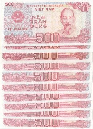 Vietnam, 500 Dong, 1988, UNC, p101, (Total 10 banknotes)