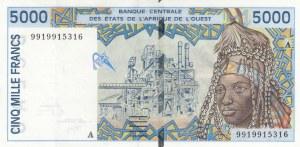 West African States, 5.000 Francs, 1999, XF, p113Af