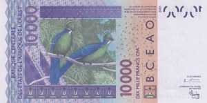 West African States, 10.000 Francs, 2003, UNC, p118Aa