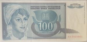 Yugoslavia, 100 Dinara, 1992, UNC, p112, BUNDLE
