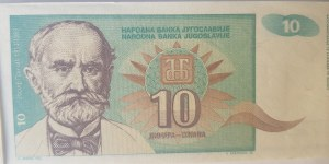 Yugoslavia, 10 Dinara, 1994, UNC, p138, BUNDLE