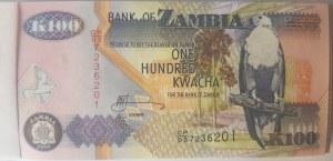 Zambia, 100 Kwacha, 2006, UNC, p38f, BUNDLE