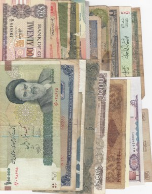 Total 20 banknotes, POOR / UNC,