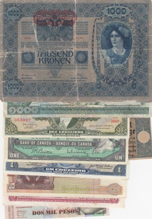 Mix Lot, 10 banknotes, FINE / AUNC