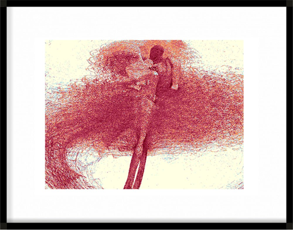 Zdzisław Beksiński - rysunek modyfikowany komputerowo