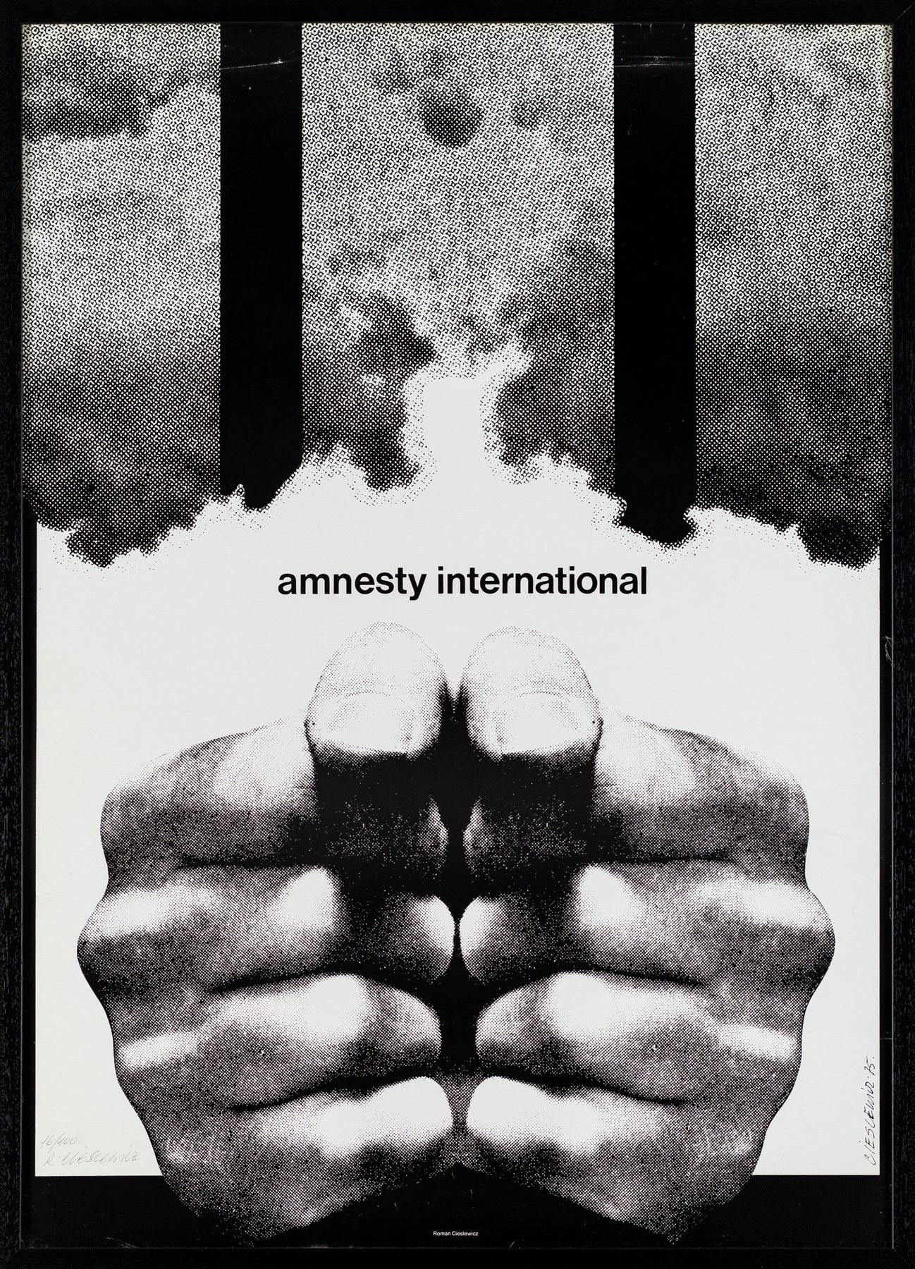 Roman Cieślewicz, Plakat Amnesty International, 1975