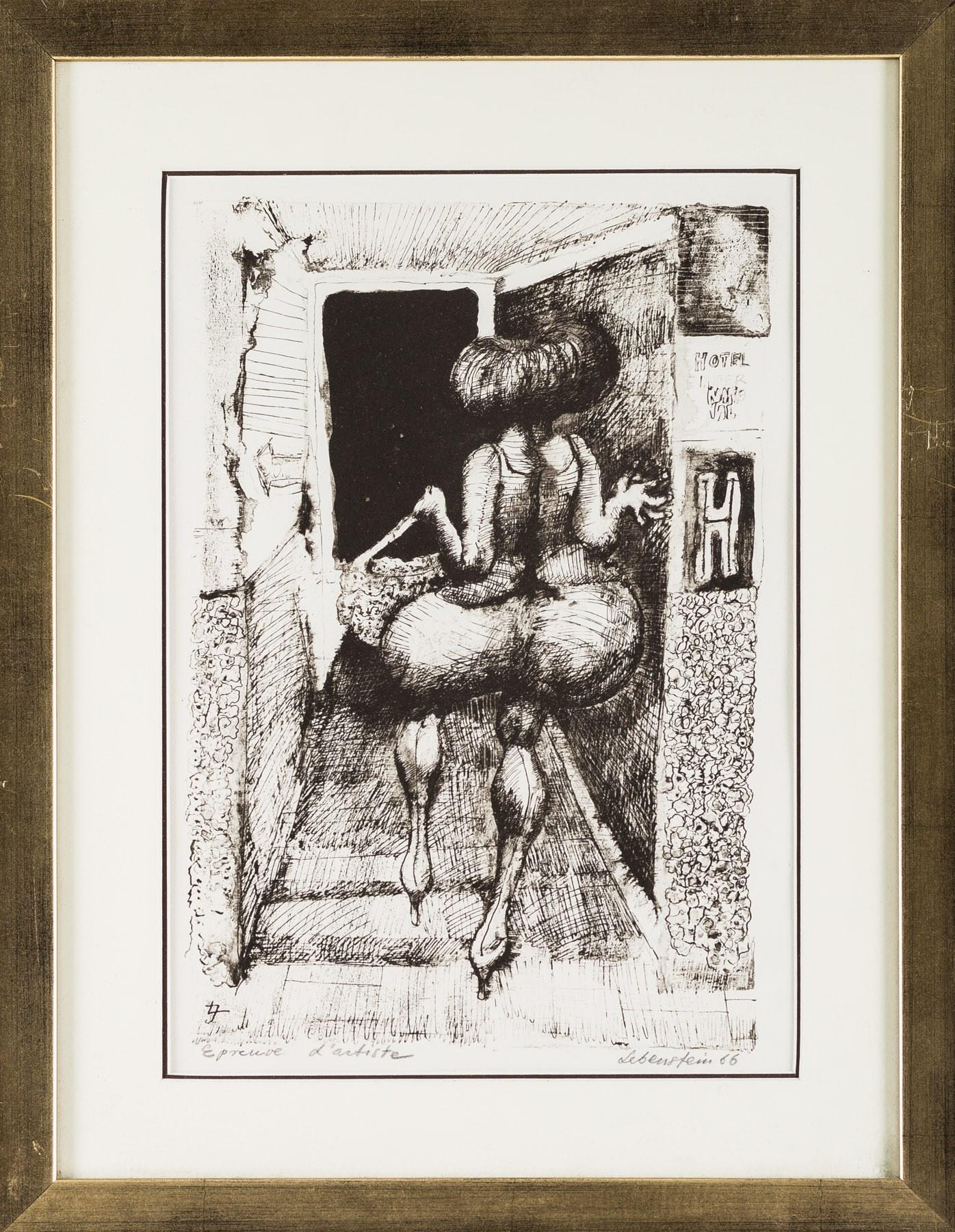 Jan Lebenstein, Ballon - Baba (Balon - Pupa), 1966