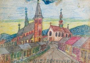NIKIFOR KRYNICKI (1895-1968), Motyw miejski