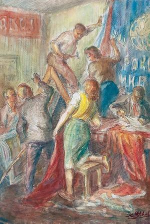 Karol STOBIECKI (1908-1970), Przygotowania do święta, lata 50. XX w.