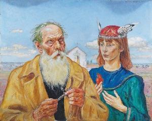 Wlastimil HOFMAN (1881-1970), Scena alegoryczna, 1914