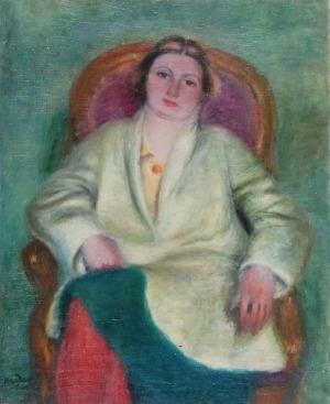 Henryk HAYDEN (1883 - 1970), Kobieta w czerwonych pończochach
