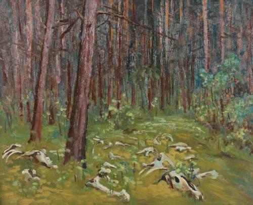 Walerian KASPRZYK (1912-1992), W lesie