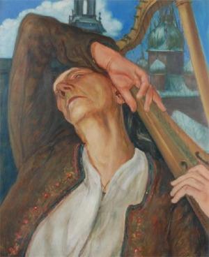 Wlastimil HOFMAN (1881-1970), Harfiarka - skrzydło tryptyku